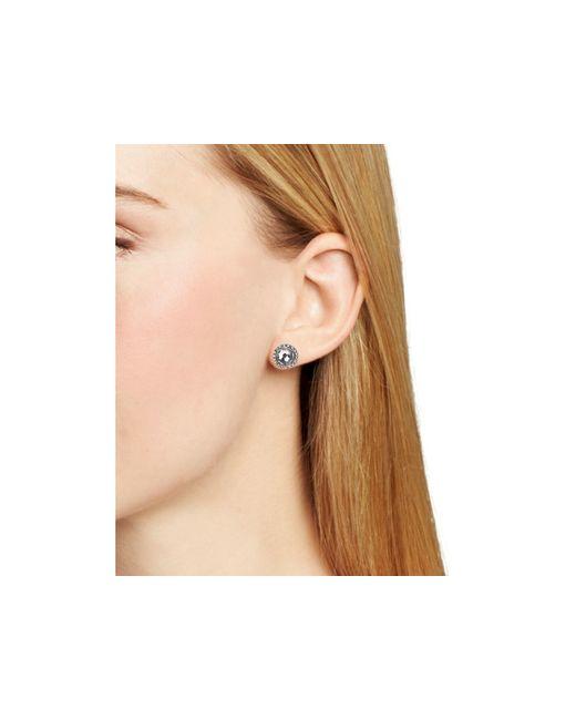Rebecca Minkoff | Metallic Pavé Halo Stud Earrings | Lyst
