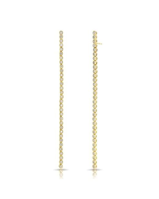 Anne Sisteron | Metallic 14kt Yellow Gold Diamond Leash Collection Dangle Earrings | Lyst