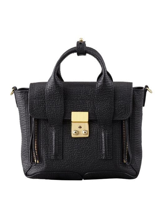 3.1 Phillip Lim | Black Mini Pashli Leather Satchel | Lyst