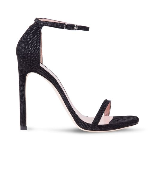 Stuart Weitzman | Black Nudist Textured Leather D'Orsay Sandals | Lyst