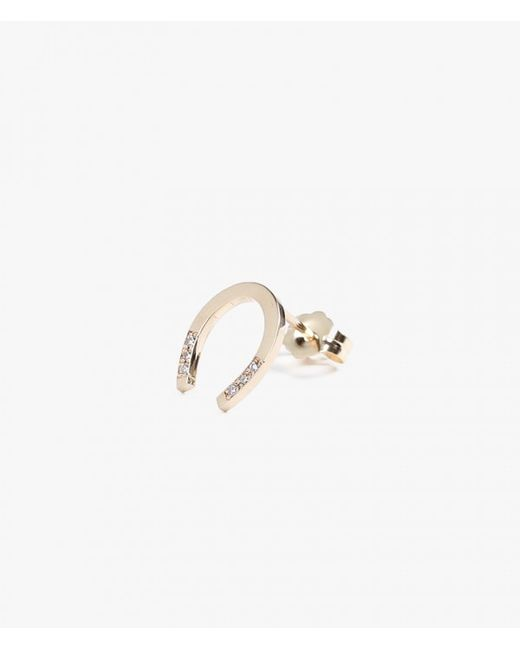 Jennie Kwon | Metallic Horseshoe Stud - Single | Lyst