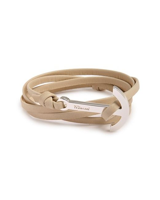 Miansai   Brown Modern Anchor Leather Wrap Bracelet for Men   Lyst