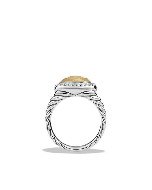 David Yurman   Metallic Albion Ring With Diamonds And 18k Gold   Lyst