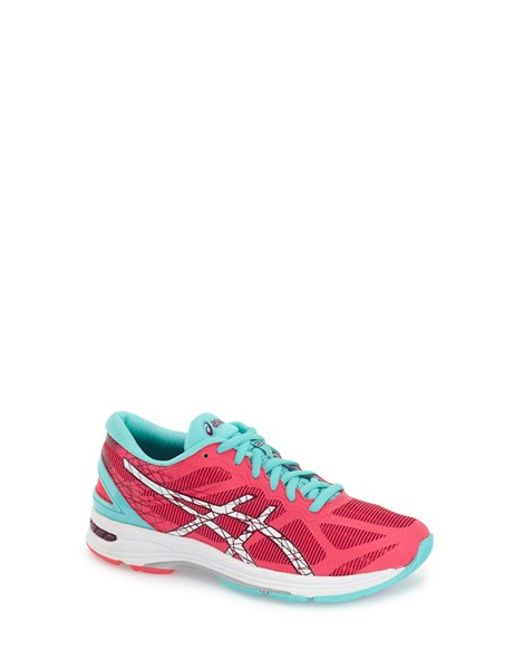 asics asics 39 gel ds trainer 21 39 running shoe in pink lyst. Black Bedroom Furniture Sets. Home Design Ideas
