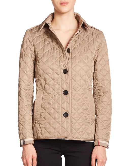 Burberry | Natural Ashurst Diamond-quilted Jacket | Lyst