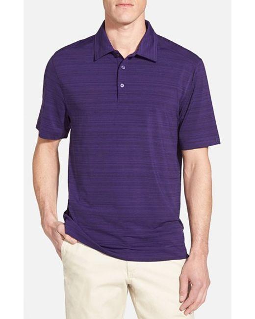 Cutter & Buck | Purple 'highland Park' Drytec Golf Polo for Men | Lyst