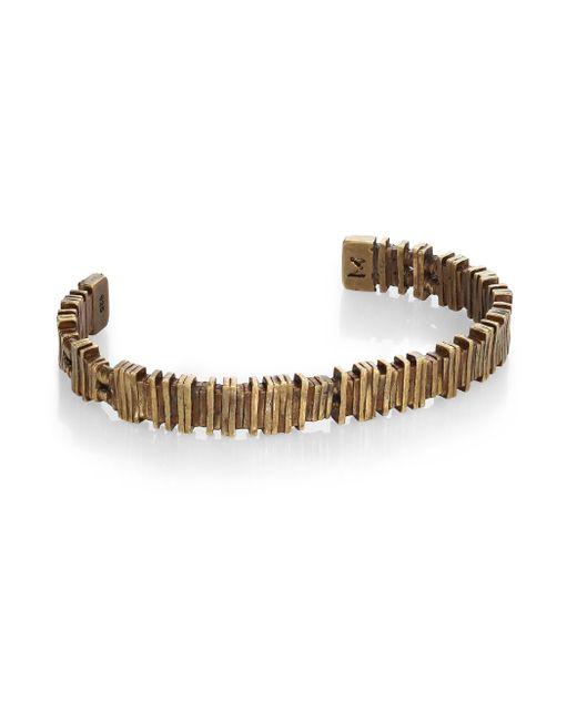 M. Cohen   Metallic Brass Barcode Cuff Bracelet   Lyst