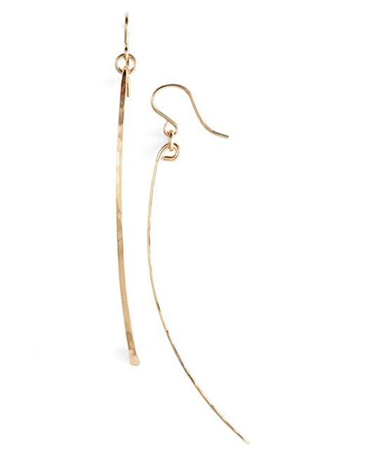 Ija | Metallic Twig Drop Earrings | Lyst