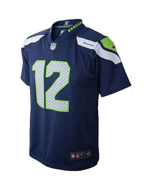 Top Nike Seattle Seahawks #12 Fan Salute to Service Black Limited Jersey