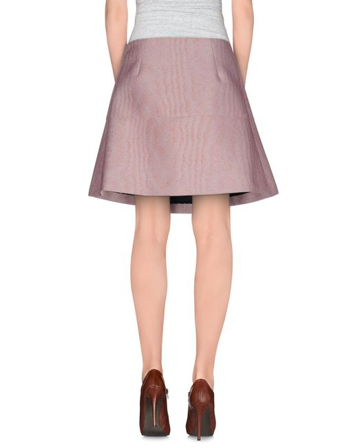 vivetta knee length skirt in pink save 75 lyst
