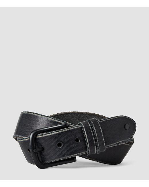 AllSaints | Black Echo Belt for Men | Lyst