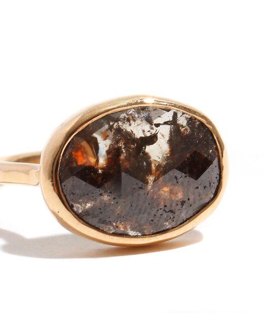Melissa Joy Manning   Metallic 3.3 Carat Grey And Red Oval Diamond Slice Ring   Lyst