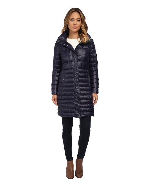 Lauren by Ralph Lauren | Blue Multi Quilt W/ Removable Hood | Lyst