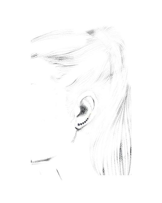 Anita Ko | Floating Diamond And Blue Sapphire Earring | Lyst