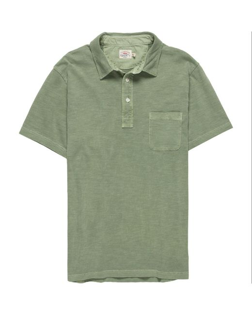 Faherty Brand - Green Sunwashed Polo Shirt for Men - Lyst