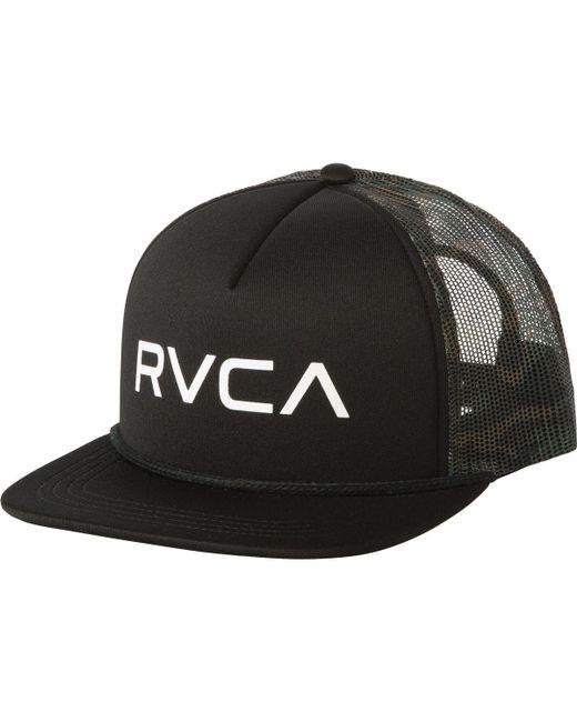 RVCA - Black Foamy Trucker Hat for Men - Lyst