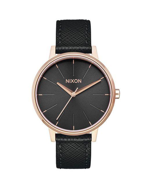 Nixon - Black Kensington Leather Watch for Men - Lyst