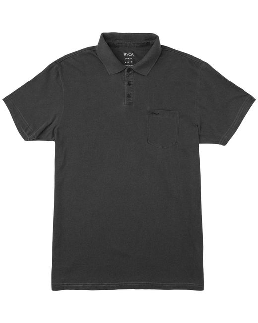 RVCA - Black Ptc Pigment Polo Shirt for Men - Lyst