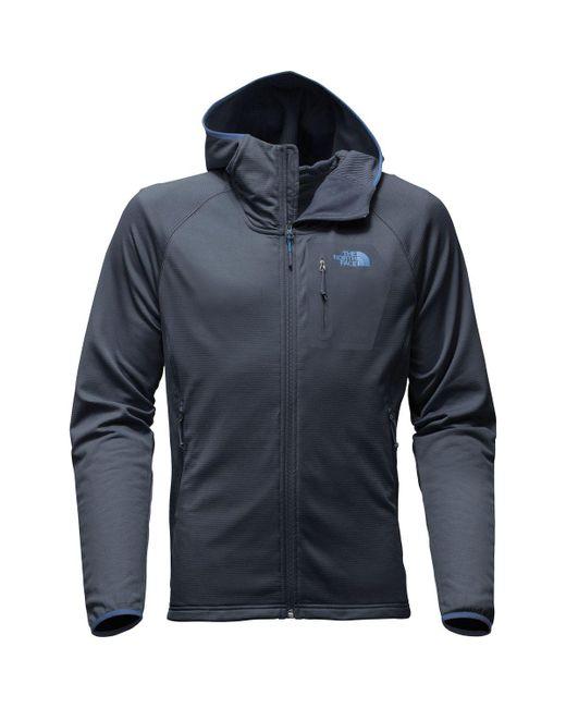 The North Face - Blue Borod Hooded Fleece Jacket for Men - Lyst
