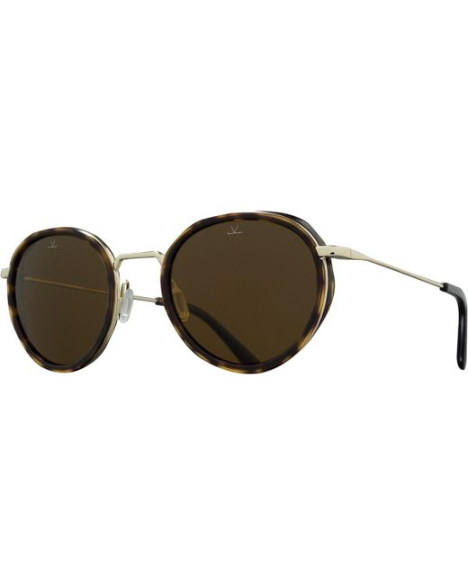 Vuarnet - Brown Vl1809 Small Round Polarized Sunglasses for Men - Lyst