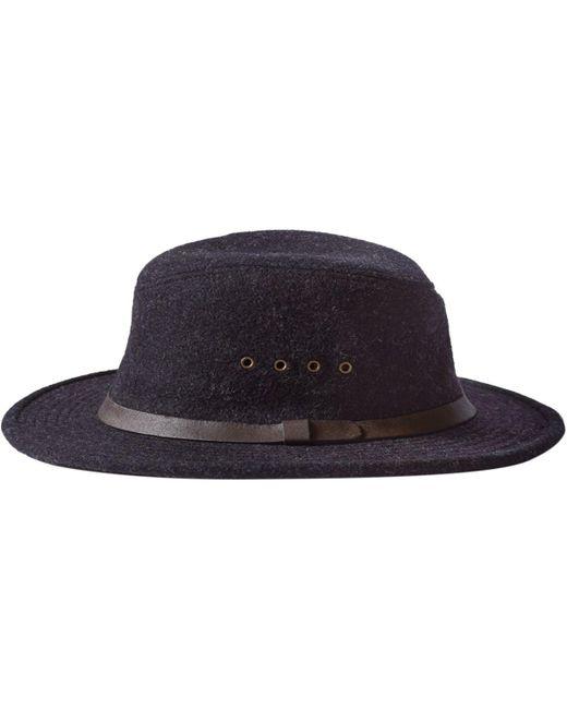 Filson Packer Hat: Filson Wool Packer Hat In Blue