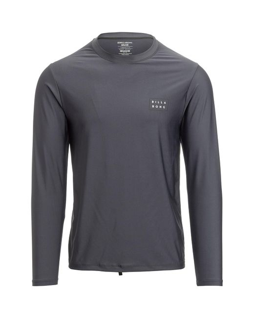 Billabong - Gray Die Cut Loose Fit Long-sleeve Rashguard for Men - Lyst