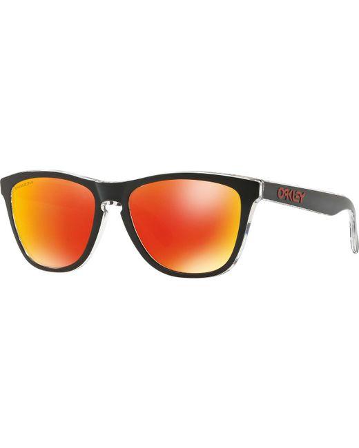 9a2c4e33c40 Oakley - Black Oo9013 Frogskins Prizm Polarised Square Sunglasses for Men -  Lyst