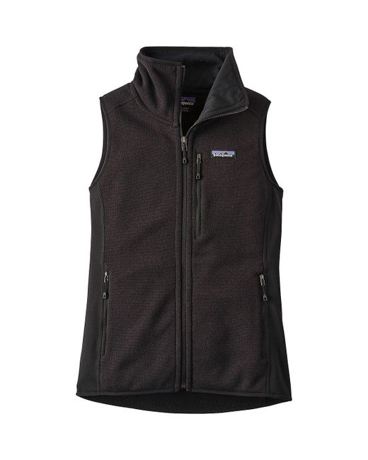 Patagonia - Black Performance Better Sweater Vest - Lyst
