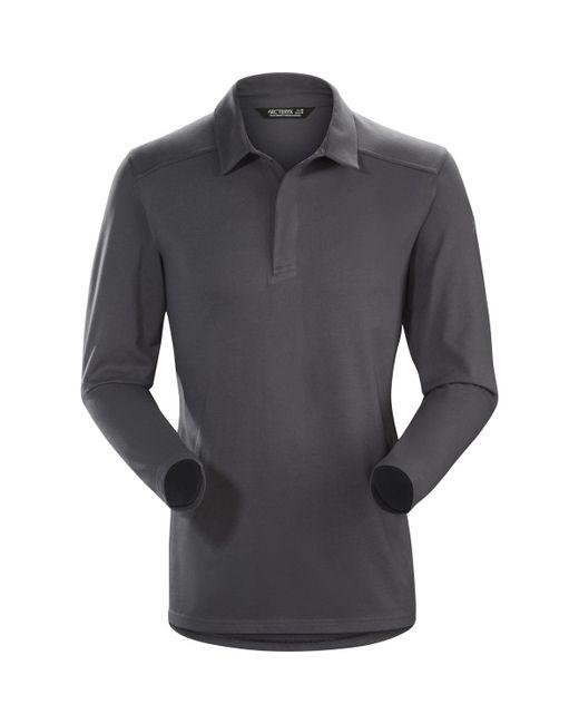Arc'teryx - Gray Captive Long-sleeve Polo Shirt for Men - Lyst