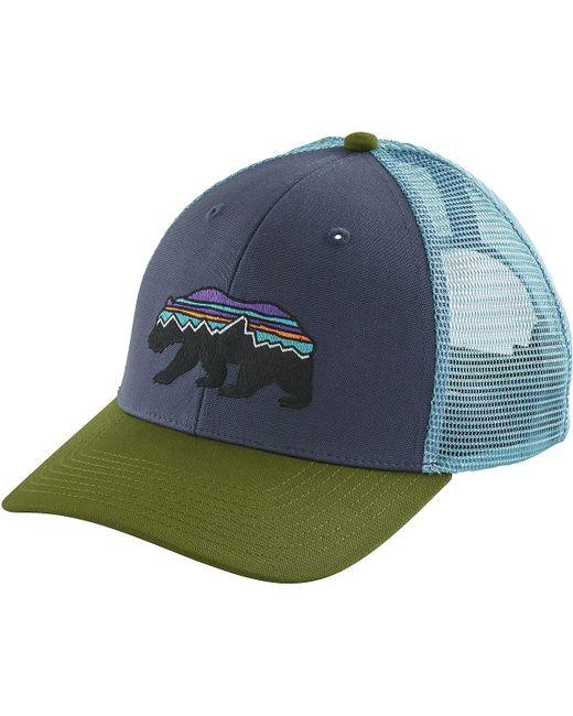 b5084215f9b Lyst - Patagonia Fitz Roy Bear Trucker Hat in Blue for Men