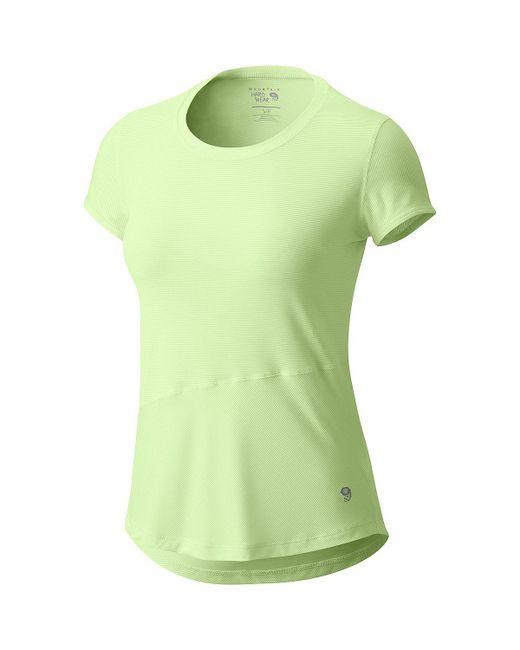 Mountain Hardwear - Green Wicked Lite Short-sleeve Shirt - Lyst