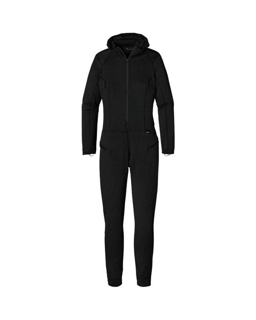 Patagonia | Black Capilene Thermal Weight One-piece Suit | Lyst