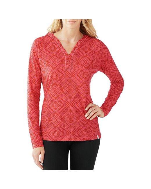 Smartwool - Red Merino 150 Pattern Pullover Hoodie - Lyst