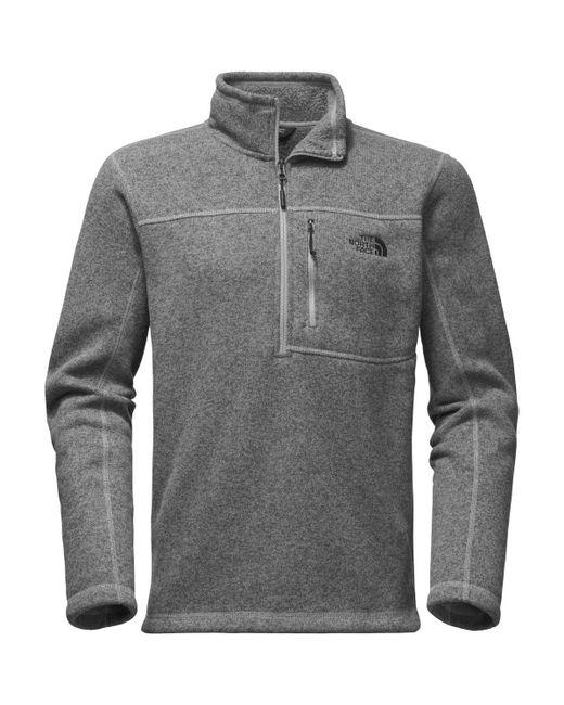 44dde90b7 Men's Gray Gordon Lyons 1/4-zip Fleece Pullover