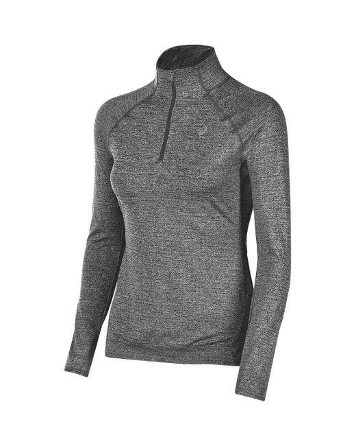 Asics   Gray Lite-show Shirt - 1/2-zip   Lyst
