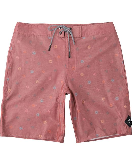 RVCA | Red Lost Vacancy Trunk for Men | Lyst