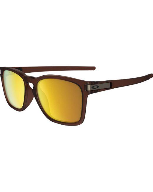 Oakley   Brown Latch Sunglasses - Asian Fit for Men   Lyst