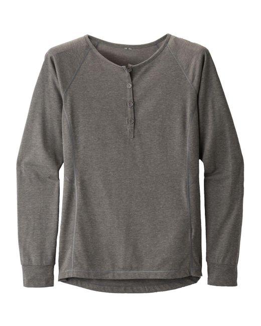 Black Diamond - Gray Attitude Henley Shirt for Men - Lyst