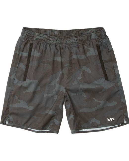 RVCA - Gray Yogger Iii Short for Men - Lyst
