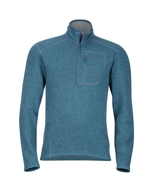 Marmot - Blue Drop Line 1/2-zip Fleece Jacket for Men - Lyst