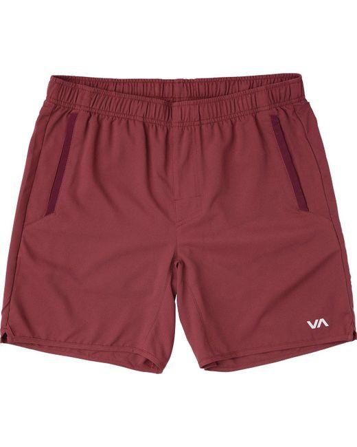 RVCA - Red Yogger Iii Short for Men - Lyst