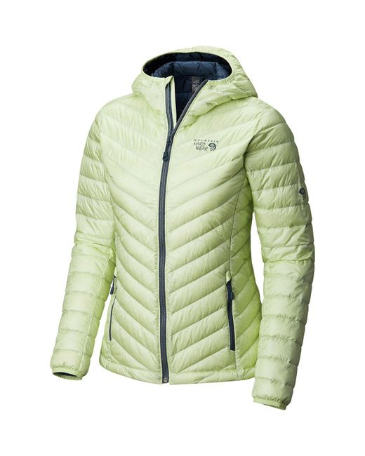 Mountain Hardwear - Green Micro Ratio Hooded Down Jacket - Lyst