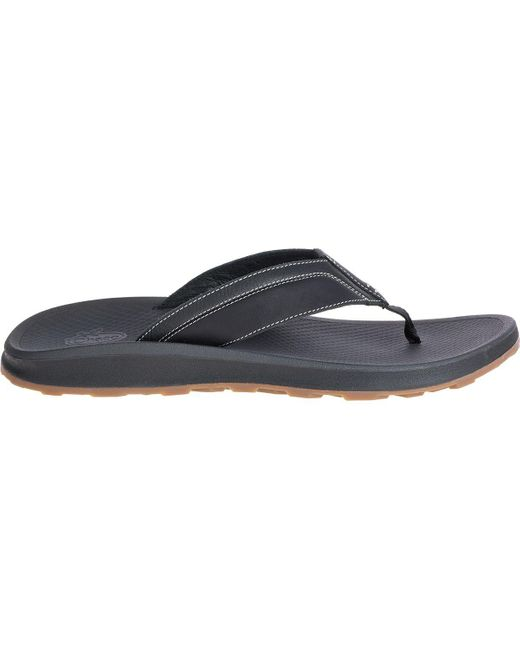 Chaco Black Playa Pro Leather Flip Flop for men