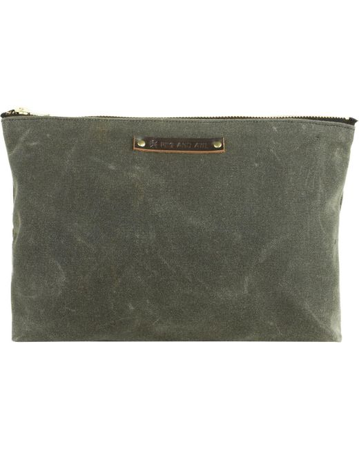 Peg And Awl - Green Large Pouch - Lyst