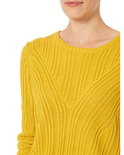 Therapy | Yellow Rib Detail Cable Jumper | Lyst