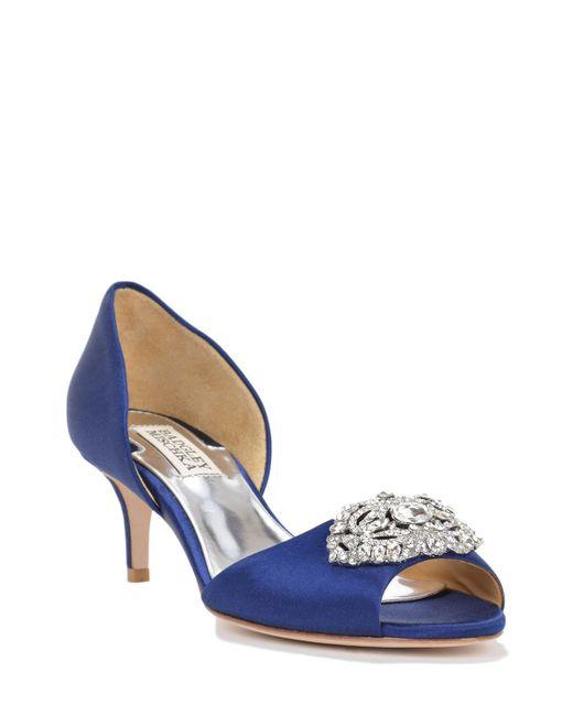 Badgley Mischka   Blue Petrina Wide-width Evening Shoe   Lyst