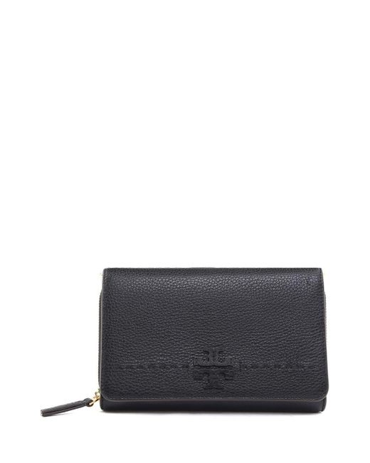 Tory Burch - Multicolor Mcgraw Flat Pebbled-leather Wallet Cross-body Bag - Lyst