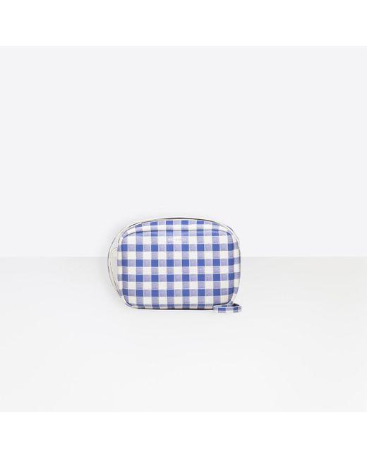Balenciaga - White Everyday Camera Bag S Check - Lyst