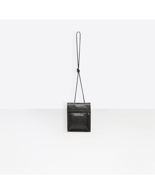 b8edc13982 ... Balenciaga - Black Explorer Pouch Strap for Men - Lyst ...