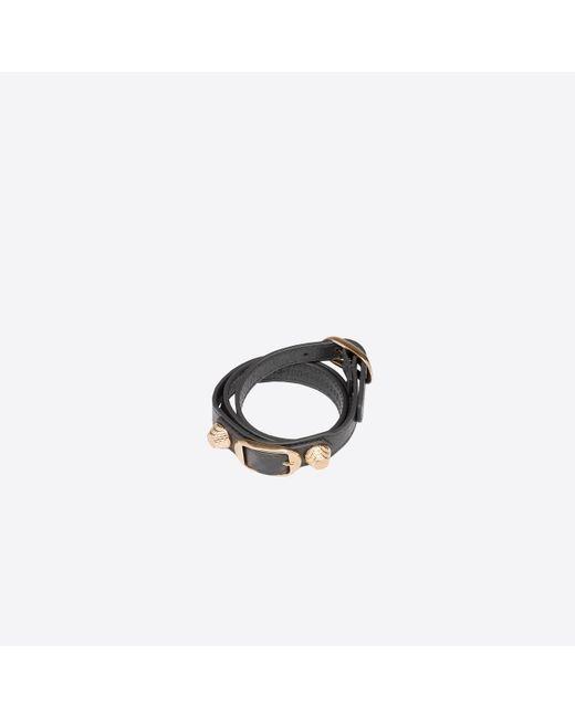 Balenciaga | Gray Giant Gold Bracelet Triple Tour | Lyst
